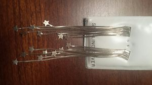 Sterling Silver Hanging Stars Earings for Sale in Mount Laurel Township, NJ