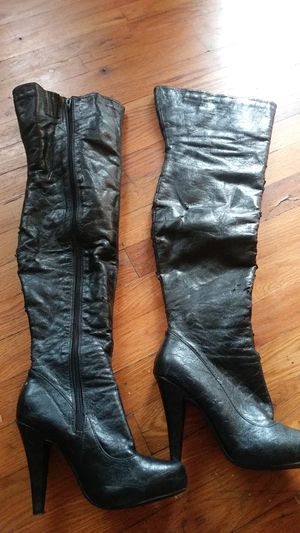 Black high thigh boots sz 5.5 for Sale in Lakewood, CO