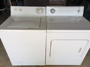 MHeavy duty washer and electric dryer in excellent condition and with all connections same day Delivery and installation available f for Sale in San Antonio, TX