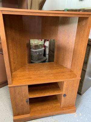 Great smaller entertainment center for tv and systems fits about anywhere with storage shelves furniture for Sale in Nabb, IN