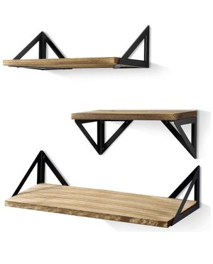"""BAYKA Floating Shelves Wall Mounted, Rustic Wood Wall Shelves Set of 3 for Bedroom, Bathroom, Living Room, Kitchen Amazon's Choice for """"bayka floatin for Sale in Los Angeles, CA"""