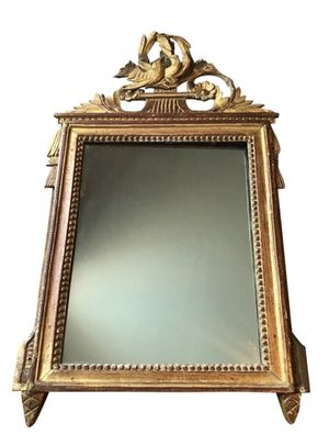 Antique French Louis XVI Neoclassical Water Gilded Mirror Frame for Sale in Miami, FL