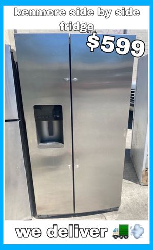 KENMORE STAINLESS SIDE BY SIDE FRIDGE for Sale in Santa Ana, CA