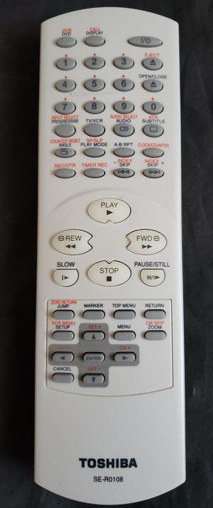 !Vintage Remote Control TOSHIBA SE-R0108 TV/VCR. for Sale in Adelphi, MD