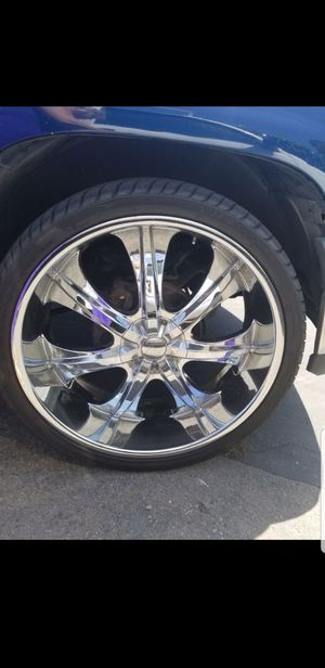 Velocity 26 inch Chrome Rims set of 4 with Wheels included 80% - 85%Tire Life for Sale in Spring Valley, CA