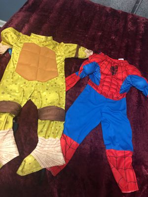 2 Halloween costumes size 2T and 3T for Sale in City of Orange, NJ
