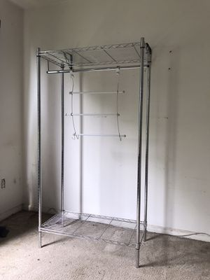 Closet organizer storage with clothes hanger for Sale in Seattle, WA