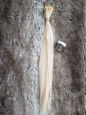 "21"" blonde human hair extensions and beads for Sale in Upland, CA"