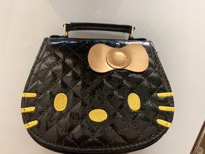 HELLO KITTY EMBROIDERED MINI CUTE BLACK VINYL CHILD PURSE 👜 BAG for Sale in Riverside, CA