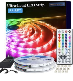 LED Strip Lights, 65.6ft RGB 5050 LED Lights for Bedroom, Room, Kitchen, Home Decor DIY Color Changing Led Light Strip Kit with 44key Remote and Powe for Sale in Brooklyn, NY