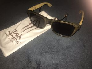 New Monster Energy Wood Frame Sunglasses 🕶 $65.00 Authentic comes with soft carrying pouch for Sale in Fort Worth, TX