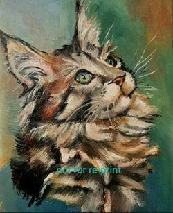 "Custom Cat Portrait, 7""×9"" Original Oil Painting Sold By Artist, Art, Artwork, Cats, Kitten, Pet, Pets, Animal for Sale in Sun City,  AZ"