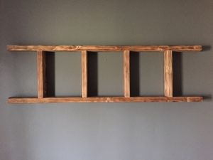Rustic Handmade Ladder {wall mounted shelf} for Sale in Bartlett, IL