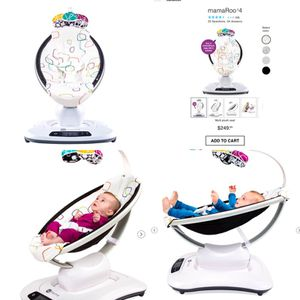 NEW IN BOX! 4Moms MamaRoo plush swing w/ Bluetooth for Sale in Irvine, CA