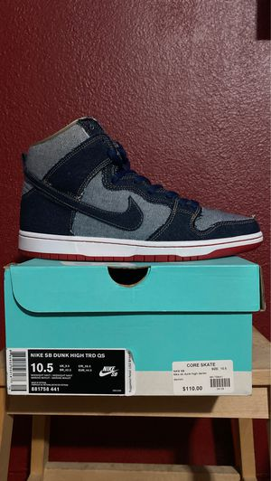 Nike Reese Forbes Denim x High Pro SB's Size 10.5 for Sale in Los Angeles, CA