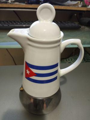 Ceramic Cuban coffee maker makes 6 cups for Sale in Miami, FL