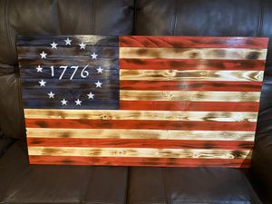 Wooden American flag for Sale in Chicago, IL