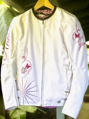 Joe Rocket Butterfly Motorcycle Jacket, Women's Size S, White & Pink, Mint for Sale in San Jose, CA