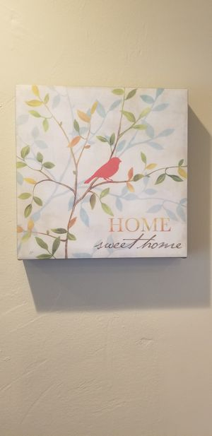 Home Sweet Home boxed canvas wall art for Sale in Miami, FL