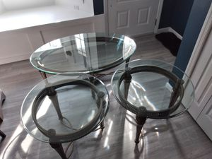 3 Piece Glass Table Set for Sale in Rahway, NJ