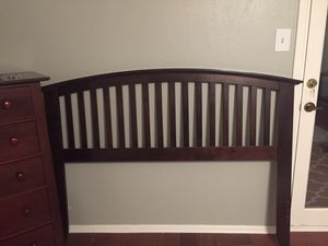 Full-sized box spring, mattress, bedrails, and headboard (does NOT attach) for Sale in Midland, TX