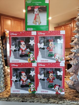 DISNEY CHRISTMAS INFLATABLES for Sale in New Port Richey, FL