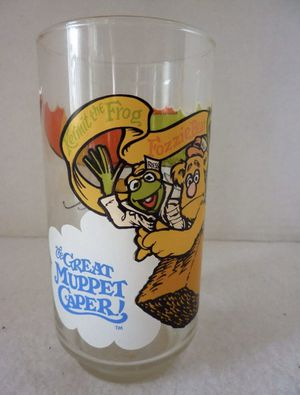 McDonald's The Great Muppet Caper Collectible Glass 1981 Kermit, Gonzo & Fozzie for Sale in Fort Myers, FL