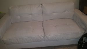 White leather couch. for Sale in Severn, MD