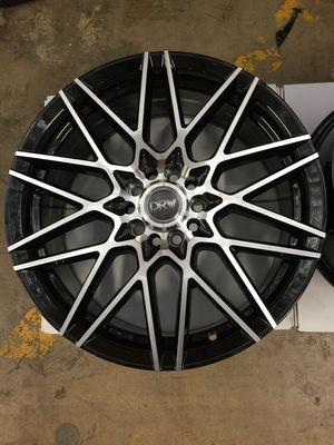 "Brand New 18"" Inch Diablo D17 18X8 Black Machined Face Wheels Rims Rines 5X105 5X4.1 5X114.3 5X4.5 for Sale in Austin, TX"