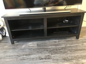 "Barely used BLACK TV STAND holds up to a 65"" tv for Sale in Atlanta, GA"