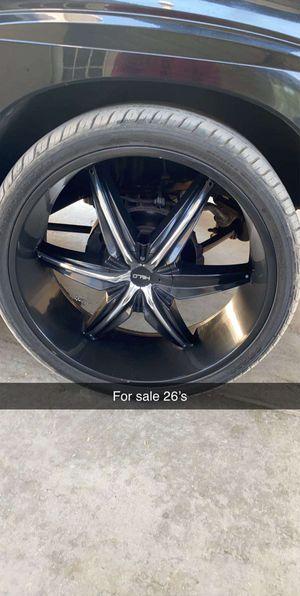6 lug rims 26s for Sale in Dinuba, CA