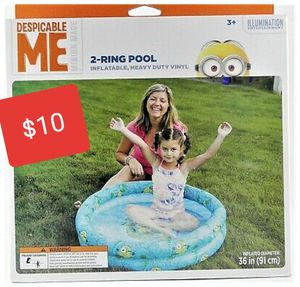 """DESPICABLE ME 2-RING POOL INFLATABLE, HEAVY DUTY VINYL 36"""" for Sale in Glendale, AZ"""