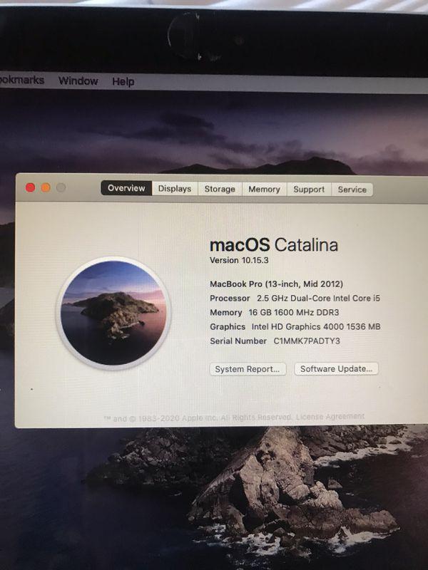 MacBook Pro 2012 500gb