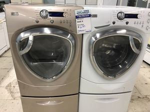 Ge profile washer dryer frontload for Sale in Denver, CO