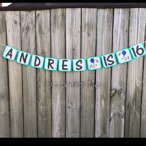Birthday Party Balloon Banner - Party Banner for Sale in Doral, FL