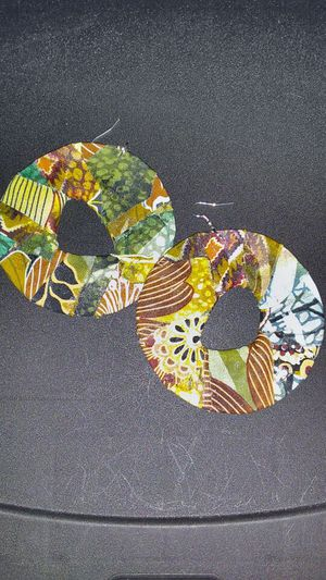 Large Multi Color Circle Earrings for Sale in Greensboro, NC