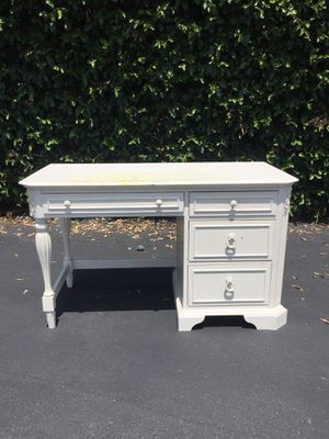 Shabby French Chic Solid Wood Small Desk or Vanity for Sale in Pomona, CA
