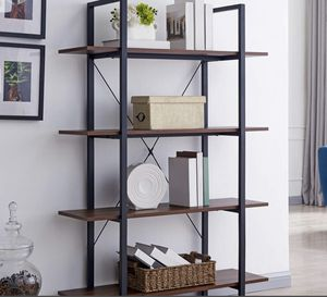 4 Tier Modern Industrial Shelf Bookcase Storage for Sale in Katy, TX