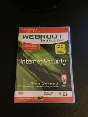 Webroot Internet Security Anti-Virus for Sale in Brick, NJ