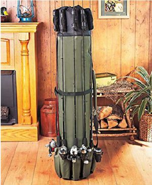 Fishing Rod Pole Organizer Management Protector Canvas Case Strap Holder Loops for Sale in Mesquite, NV