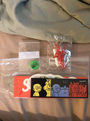 supreme parachute toy power violence pillow tee box logo sticker pack for Sale in West Covina, CA