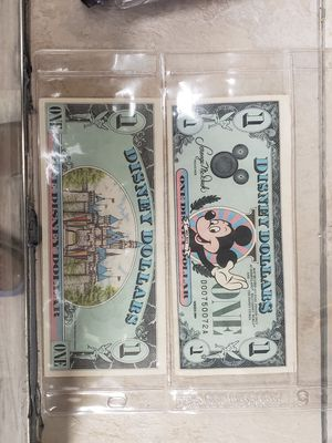 1987 and 1989 D Series Disney Dollars for Sale in Madison, NC