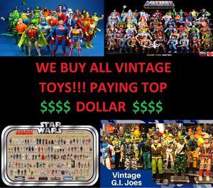 Buying ALL Vintage Toys Action Figures 70's, 80's and Modern Boxed and Loose Collections or 1 Piece BUYING NOW for Sale in Clackamas, OR