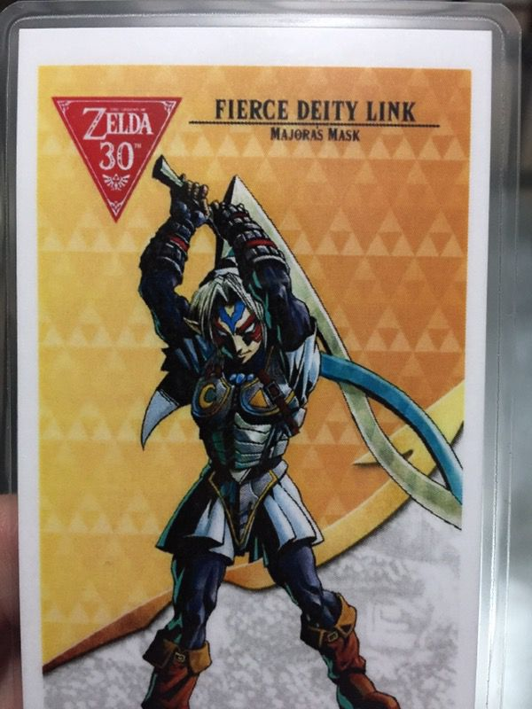 Fierce Deity Link Amiibo Card Zelda Breath Of The Wild