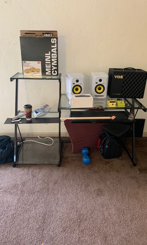 Desk with glass for Sale in Oakland, CA