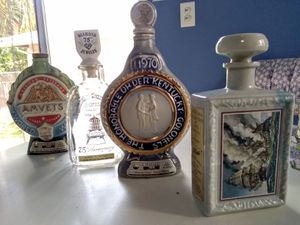 Antique collection of 4 liquor bottles for Sale in Torrance, CA