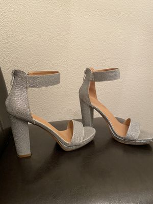 Silver heels for Sale in Riverside, CA