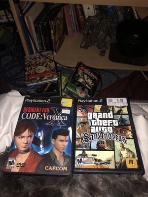 Resident evil code Veronica/gta San Andreas for Sale in Central Falls, RI