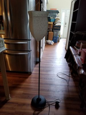 Awesome iron floor lamp with shade for Sale in Sebastian, FL