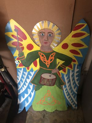 Christmas Angel to hang or use as a yard sign - Handmade/painted (Free) for Sale in Upland, CA